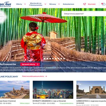 Internetowa platforma turystyczna dla LogosTour